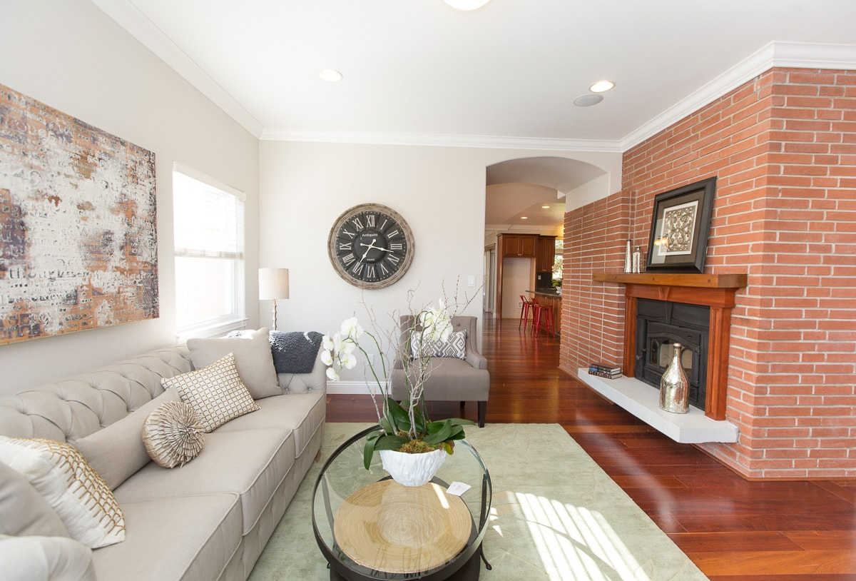 Entry Living Area with fireplace
