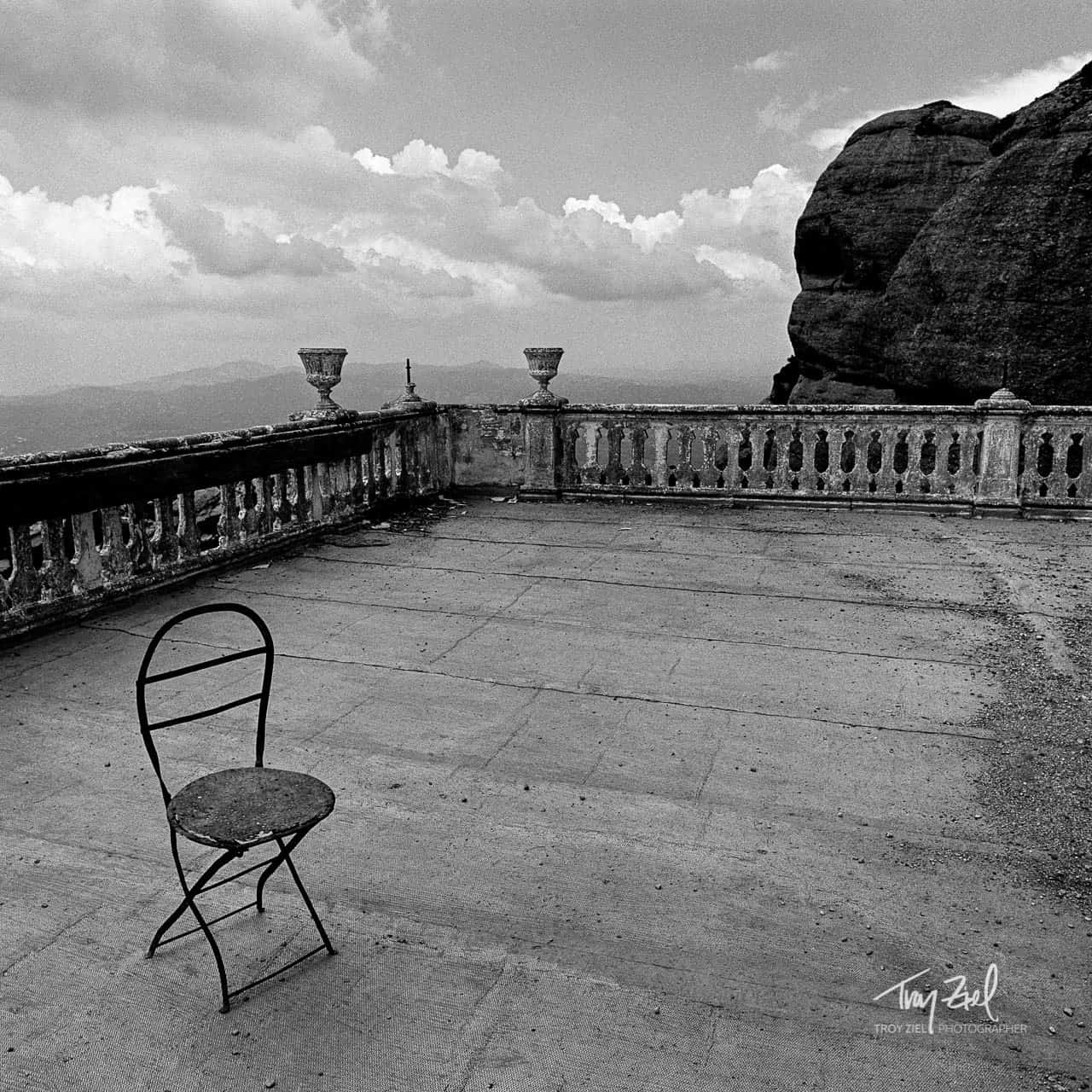 Black and white chair photography - Lonely Chair